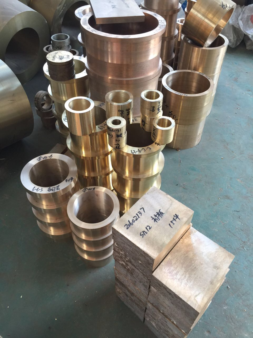 Metallurgical machinery copper liners, copper sets